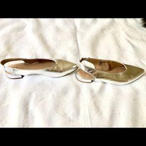 Silver Slingback Slippers